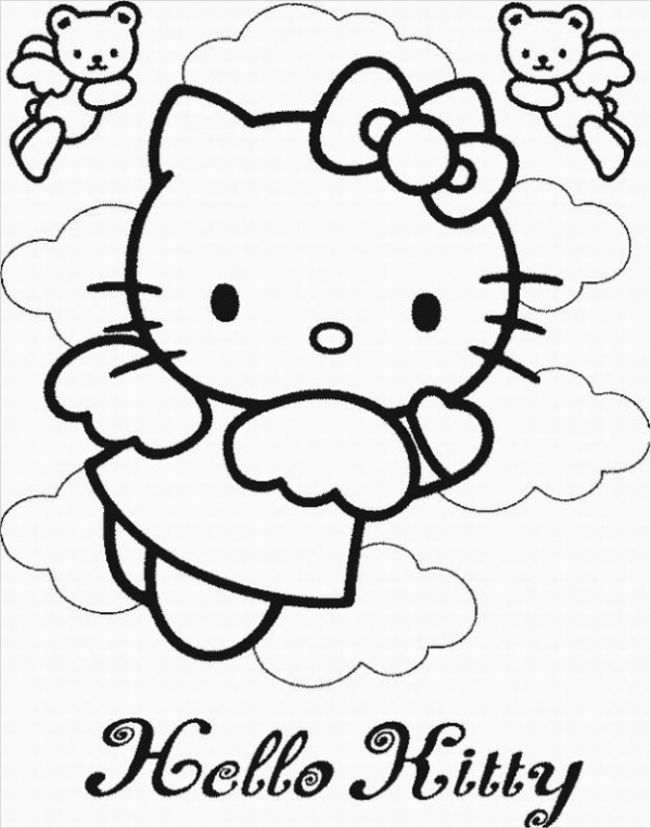 Sample Hello Kitty Coloring Page
