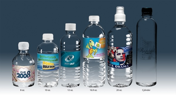 Set of Water Bottle Label Design