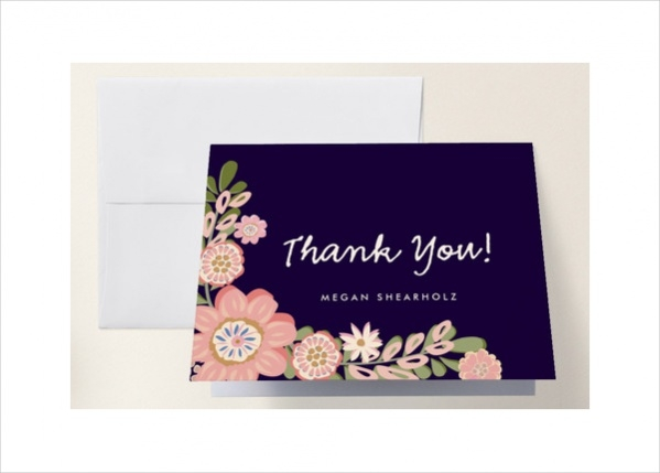 Simple Baby Shower Thank You Card