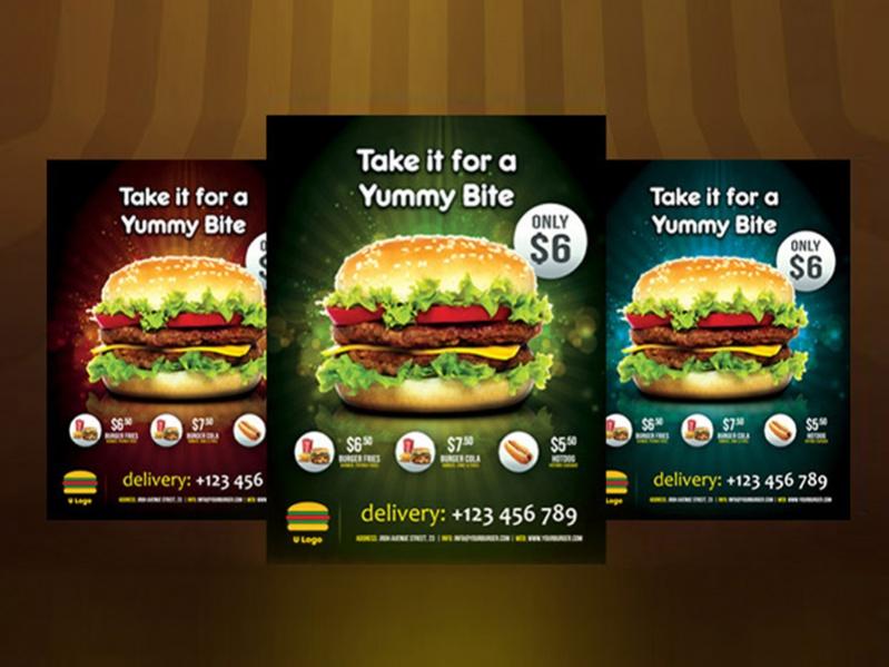 Simple Fast Food Flyer