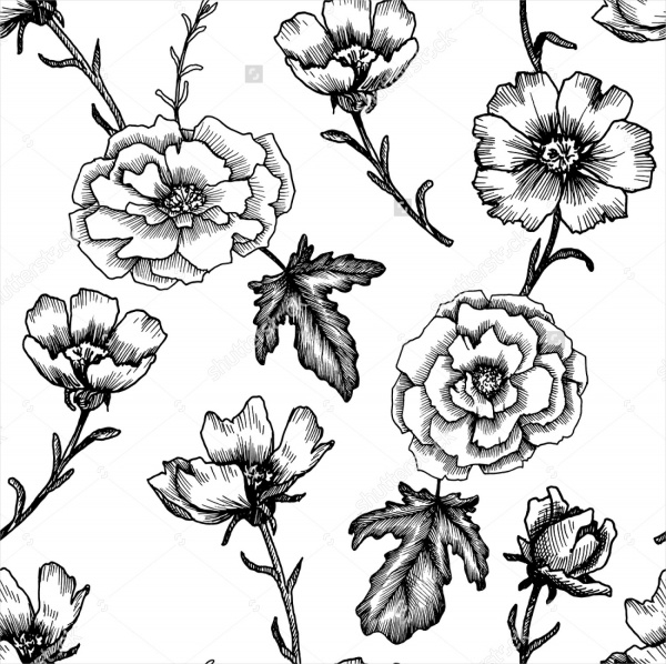 Flower Drawings Simple: 17+ Beautiful Flower Drawings