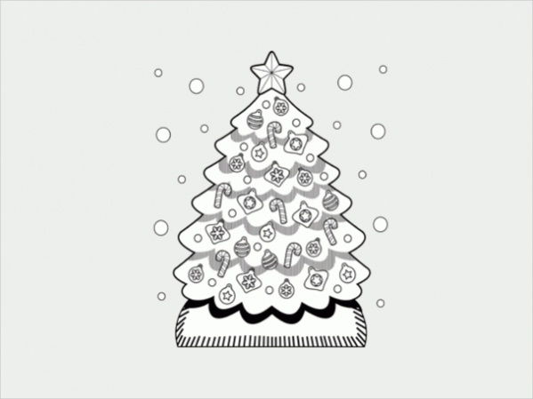 Simple Free Christmas Coloring Page