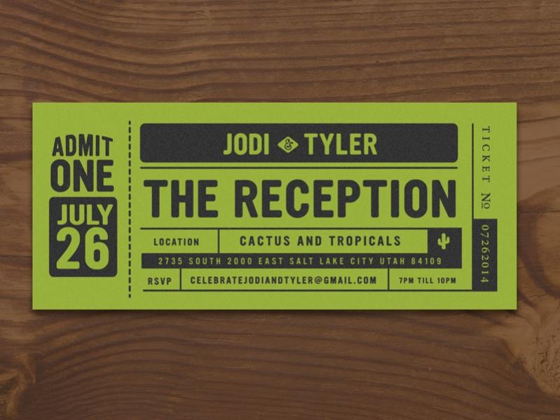 Simple Reception Invitation