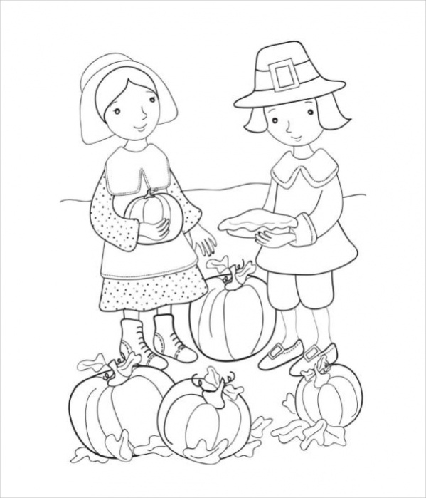simple thanksgiving coloring pages