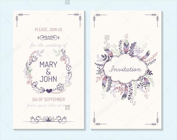 Simple Wedding Card Design