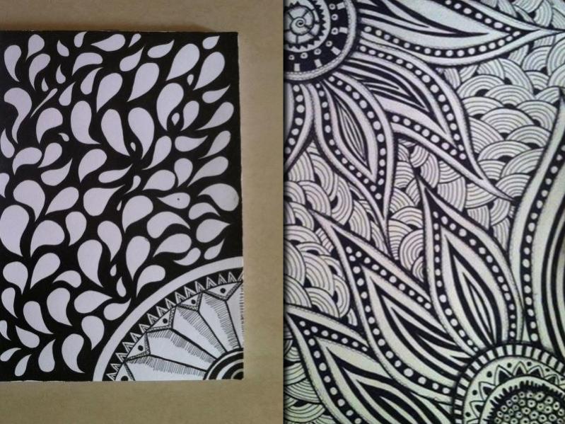 simple zentangle pattern
