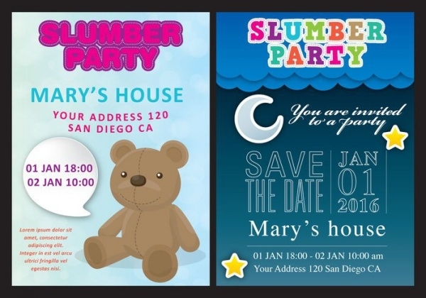 Slumber Printable Party Invitation