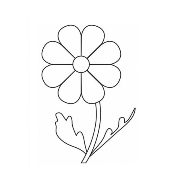 Free 19 Flower Coloring Pages In Pdf Ai