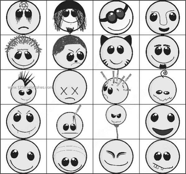 Smile Cartoon Brushes