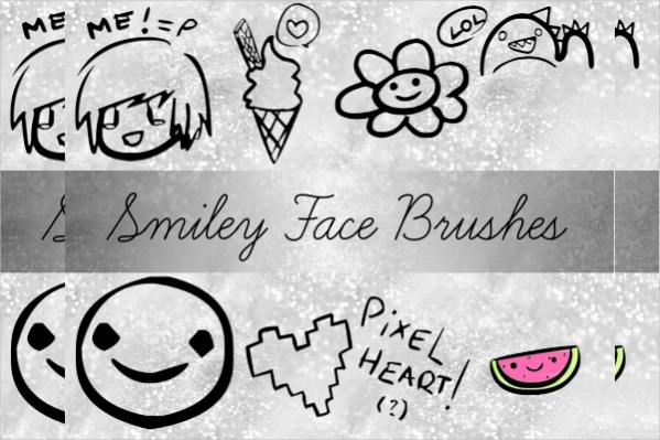 Smile face Photoshop Brushes
