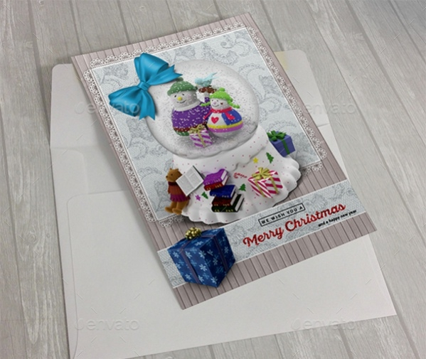 Snow Ball Christmas Greeting Card