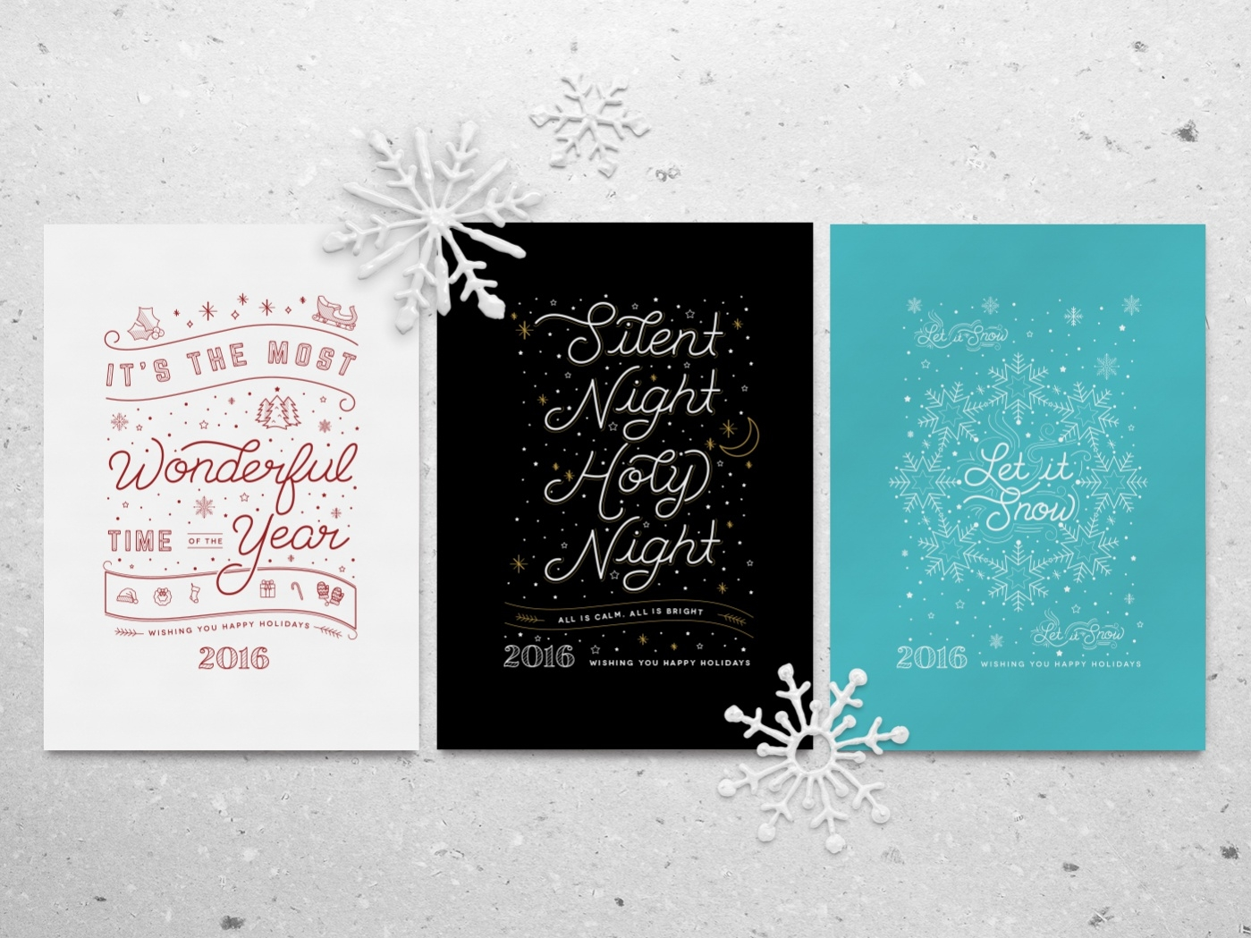 Snow Flake Christmas Greeting Cards