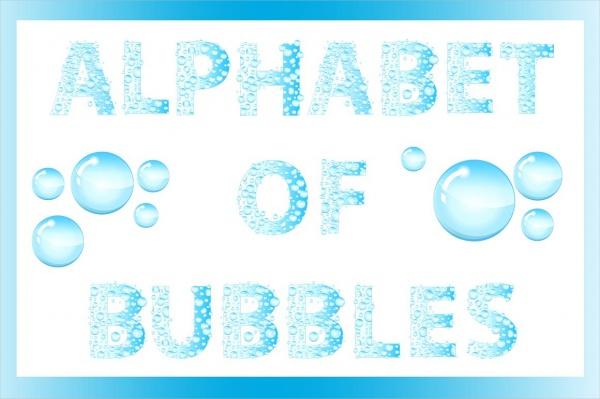 19 Bubble Letters