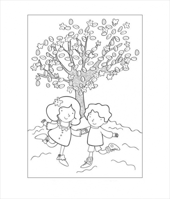 Spring Coloring Page for Kids