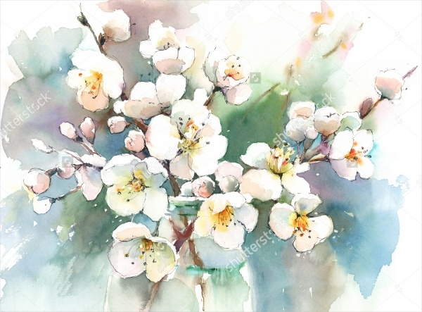 Spring Watercolor Painting