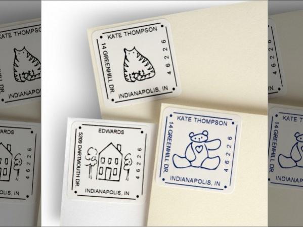 Square Self Stick Return Address Labels