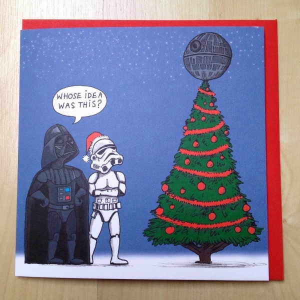 star wars christmas card design