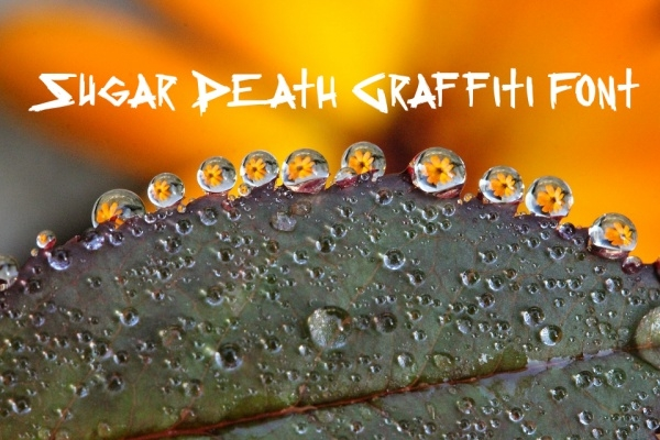 Sugar Death Graffiti Letters Font