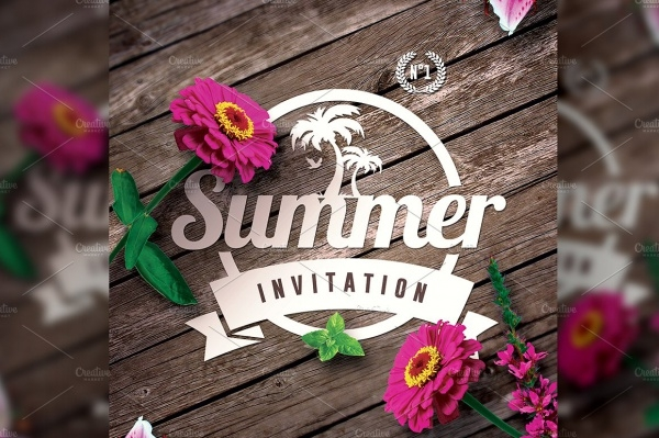 Summer Beach Party Invitation