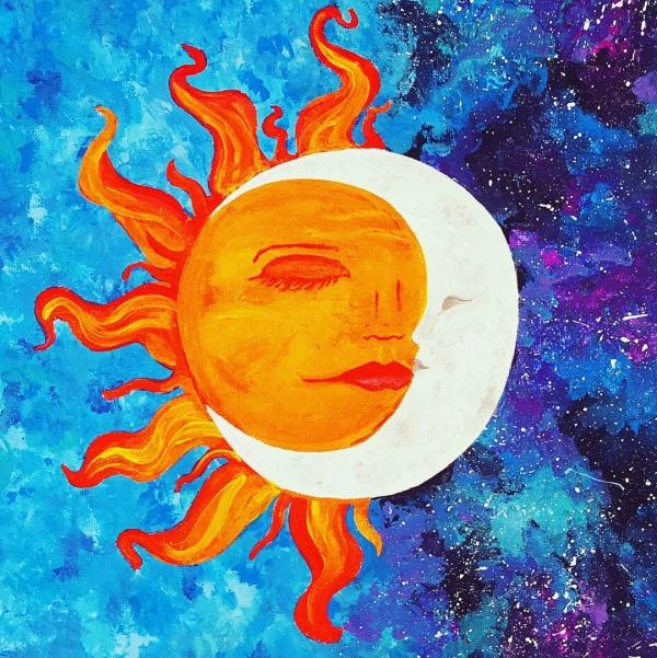 Sunset Acrylic Painting