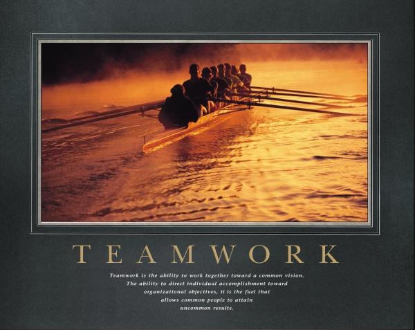 Team Work Motivational Poster