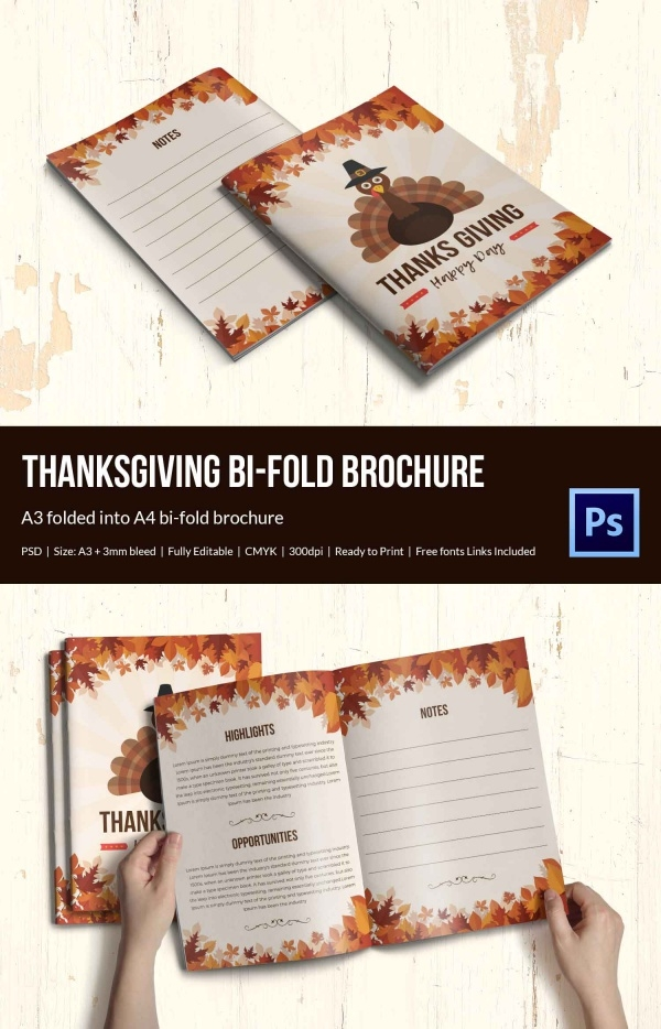 Thanksgiving Bi fold Brochure