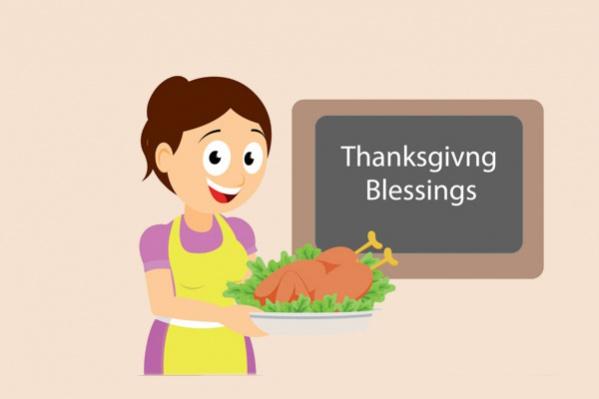 Thanksgiving Blessings Clipart