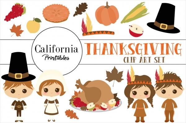 Thanksgiving Clipart Set