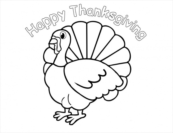 Thanksgiving Coloring Page for Kids