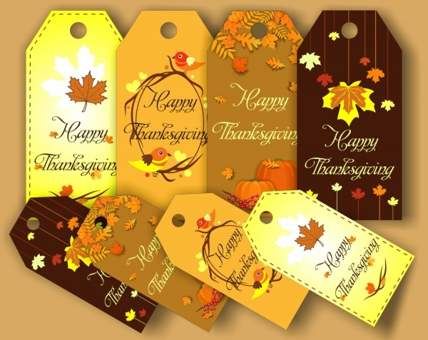 Thanksgiving Digital Party Tags