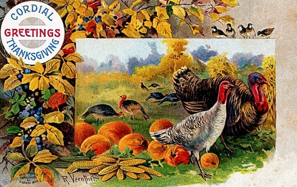 Thanksgiving Drawing Photo Border
