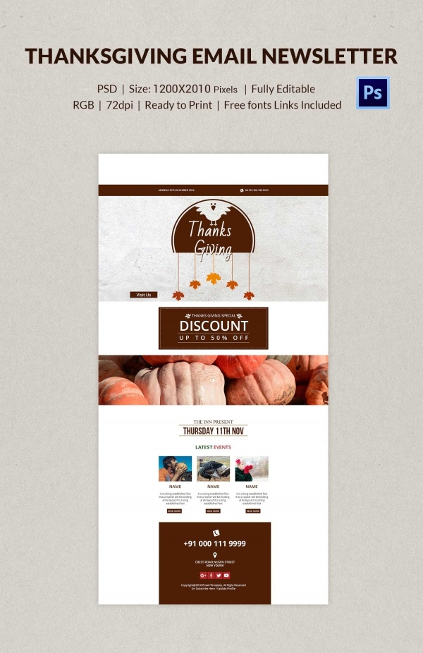 Thanksgiving E Mail Designs