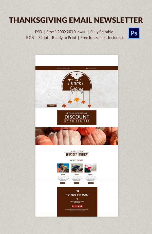 Thanksgiving E Mail Designs