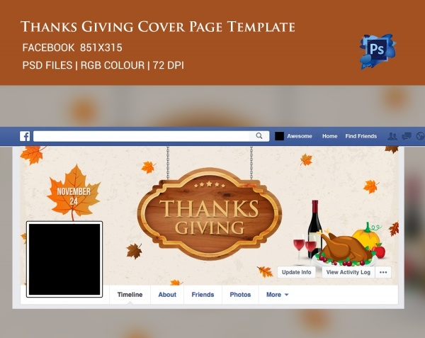 Thanksgiving Facebook Cover Page
