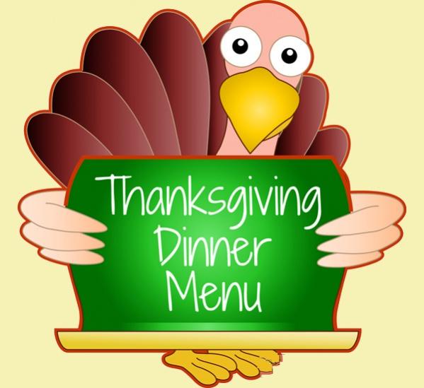 Thanksgiving Menu Clipart