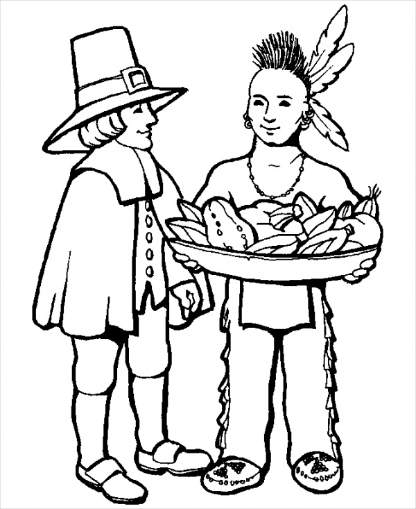 Thanksgiving Printable Coloring Page