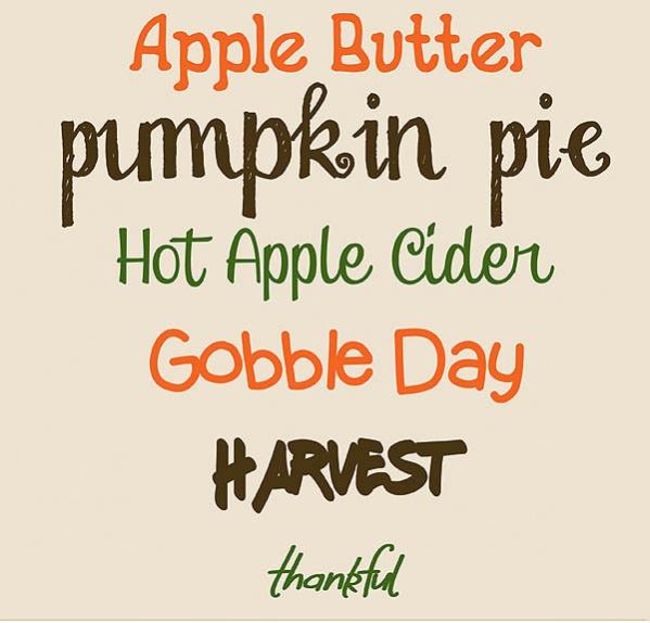 Thanksgiving Scrapbook Font