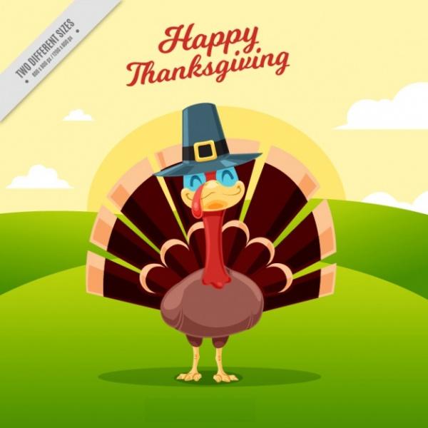 Thanksgiving Smiling Turkey Vector