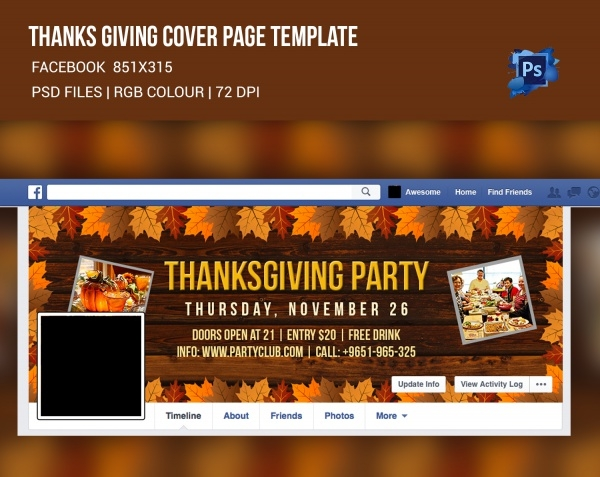 Thanksgiving Social Website Cover