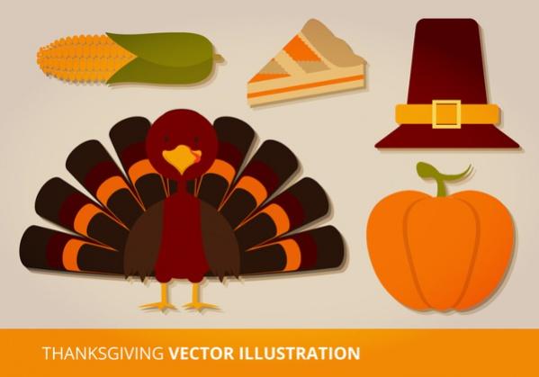 Thanksgiving Vector Set
