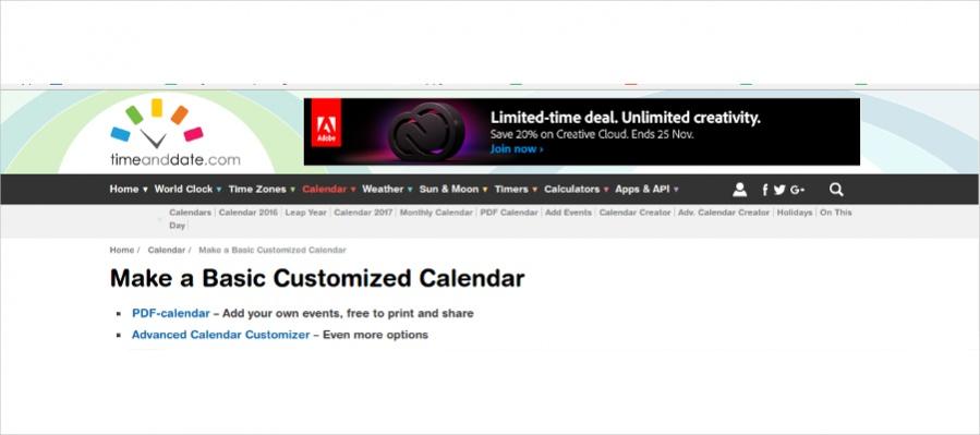Time & Date - Basic Customized Calendar
