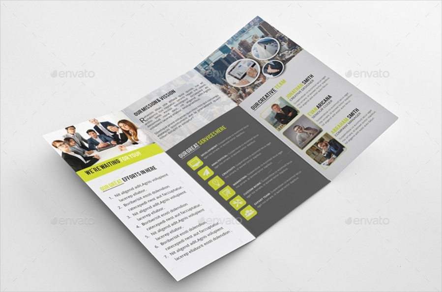 tri fold brochure template indesign - tri fold brochure designs psd vector download
