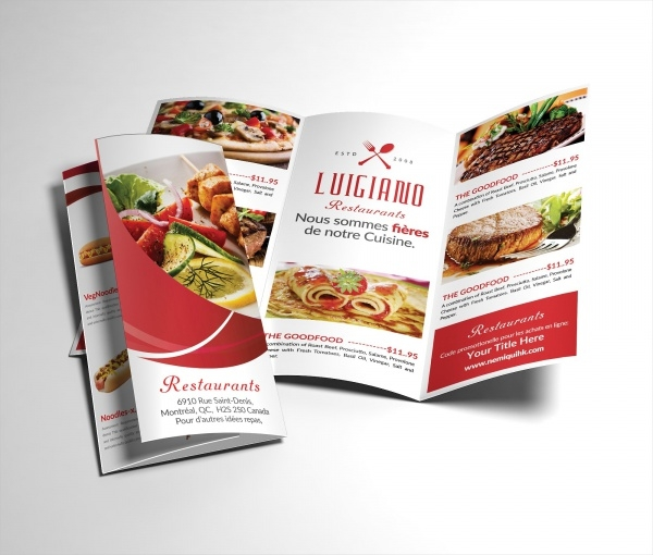 Tri Fold Restaurant Brochure