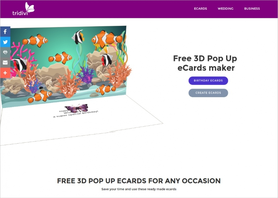 Tridivi - Pop Up Greeting Cards Maker