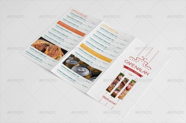 Trifold Menu Design