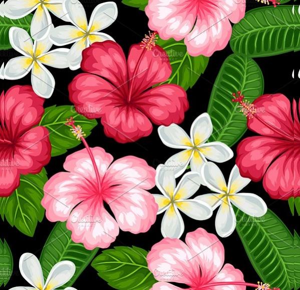 tropical-flower-pattern