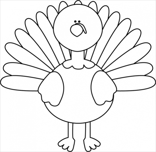 turkey-clipart-black-and-white
