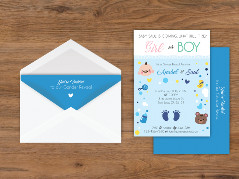 Typography Baby Shower Card