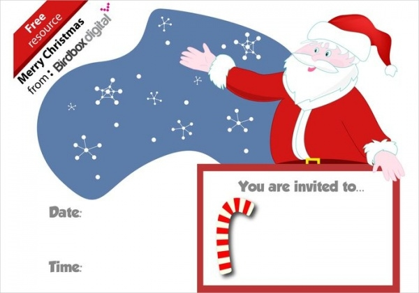 Candy Cane Christmas Party Invitation