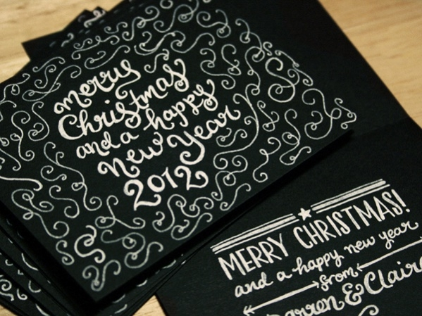 Typography Christmas Card Design